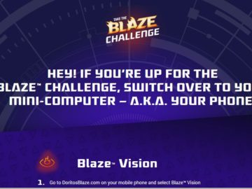 Doritos Blaze Vision Instant-Win Game