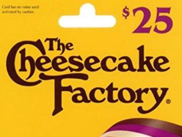 Win a $25 Cheesecake Factory Gift Card!