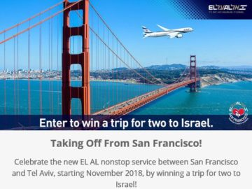 EL AL Israel Airlines USA Contest