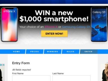 Win an iPhone X or Samsung Galaxy S9
