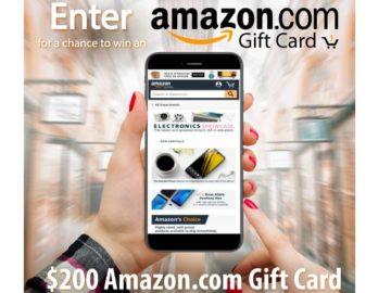 Win a $200 Amazon.com Gift Card
