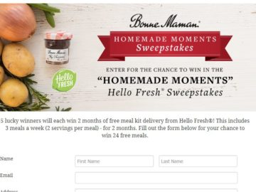 "Bonne Maman ""Homemade Moments"" Sweepstakes"