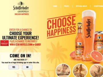 """Schofferhoffer Grapefruit """"Choose Happiness"""" Sweepstakes"""