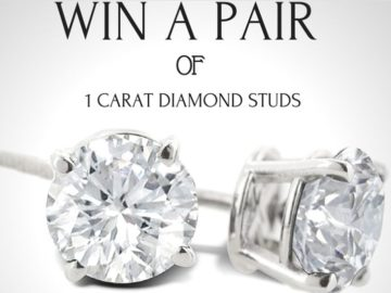 Win a Pair of 1 Carat Diamond Earrings (Facebook)