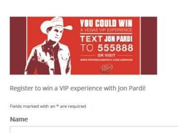 "Pepsi MidAmerica Jon Pardi ""Vegas VIP"" Sweepstakes (Select States)"