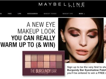 Maybelline NY Burgundy Bar Sweepstakes