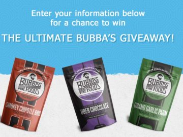 Win a Year's Worth of Bubba's Snacks