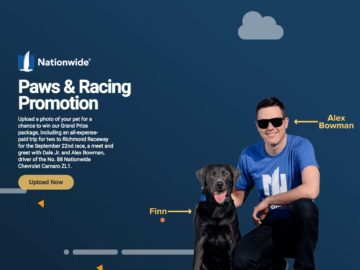 Nationwide Paws & Racing Promotion (Photo Upload)