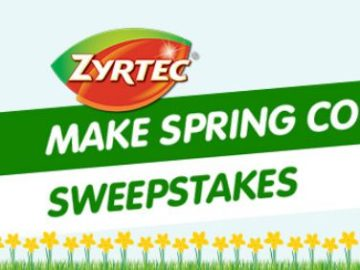ZYRTEC Make Spring Count Sweepstakes and Instant Win