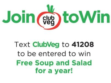 Text-to-Join Club Veg Membership Sweepstakes