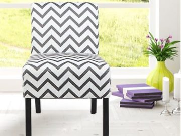 Win a Modern Fabric Upholstery Armless Accent Chair