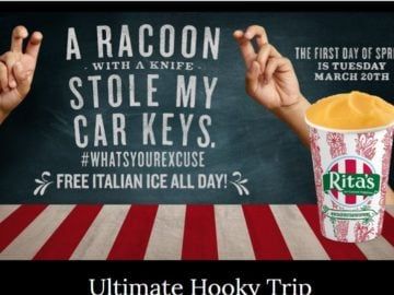 Rita's Italian Ice Ultimate Hooky Trip Contest (Facebook)