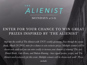 Alienist Swag Sweepstakes