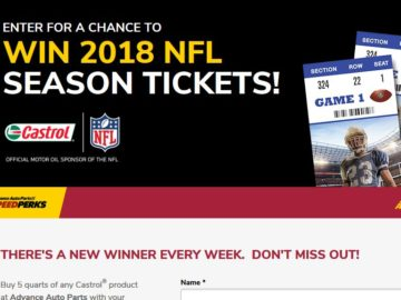 Win a Pair of 2018 NFL Season Tickets for Your Choice Team