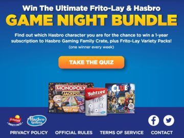 Ultimate Frito-Lay & Hasbro Game Night Bundle Sweepstakes