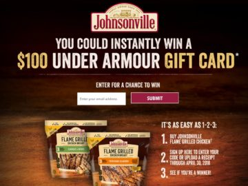 Johnsonville Flame Grilled Chicken Instant Win Game (Code)