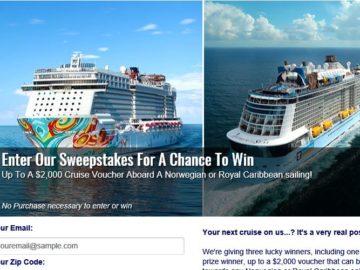 Cruises.com Cruise Giveaway Sweepstakes