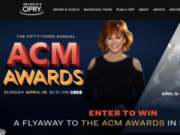 Grand Ole Opry ACM Sweepstakes
