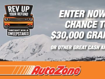 AutoZone Rev Up Your Refund Instant Win Game and Sweepstakes 2018