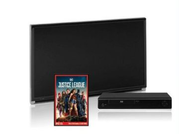 Win a 32′ HDTV, a 4K Blu-Ray Player and a Digital Copy of Justice League