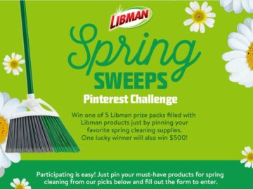 "Libman ""Spring Sweeps Pinterest Challenge"" Sweepstakes (Facebook)"