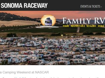 Sonoma Raceway and Family RV Sweepstakes