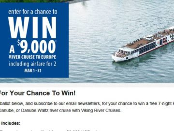 "CruiseShipCenters International, Inc. ""Legendary Rivers"" Sweepstakes"