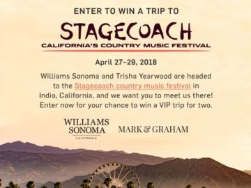 Williams Sonoma Stagecoach Sweepstakes