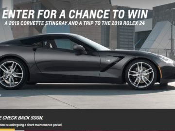 Win a Chevy Corvette Stingray Coupe
