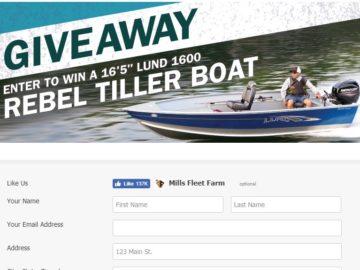 """Win a 16'5"""" Lund Rebel Tiller Boat"""