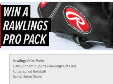 Dunham's Sports Rawlings Pro Prize Pack Sweepstakes