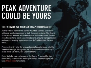 EverBank Vail Mountain Escape Sweepstakes