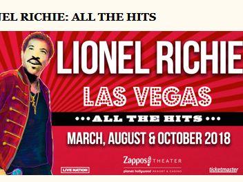 Delilah's Lionel Richie Las Vegas Sweepstakes