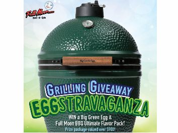 Full Moon BBQ Grilling Giveaway EGGstravaganza! Sweepstakes (Facebook)