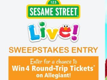 Allegiant's Sesame Street Live Tour Sweepstakes