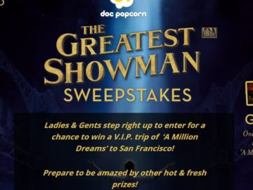 "Doc Popcorn ""The Greatest Showman"" Sweepstakes"