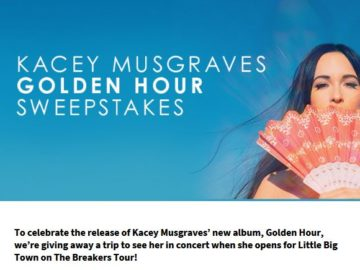 Kacey Musgraves Golden Hour Sweepstakes