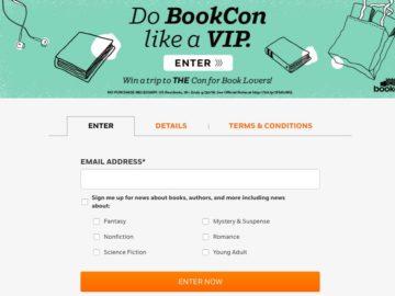 Penguin Random House BookCon VIP Sweepstakes