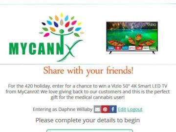 Win a Vizio 50″ 4K Smart LED TV