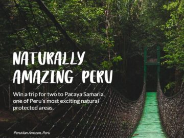 Naturally Amazing Peru Sweepstakes