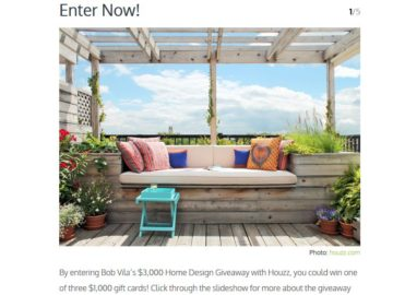 Win a $1,000 Houzz Gift Card