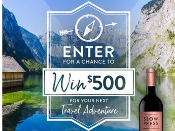 Slow Press Wines Craft Your Adventure Travel Sweepstakes