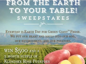 Win $500 and a 3-month supply of Klondike Rose Potatoes