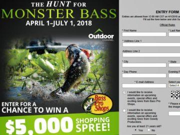 Win a $5,000 Bass Pro Shops Shopping Spree