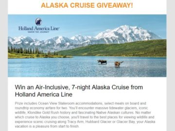 Gulliver's Travel Alaska Cruise Giveaway Sweepstakes