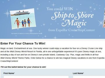 "CruiseShipCenters International Inc. ""Dream Come True Vacation"" Sweepstakes"