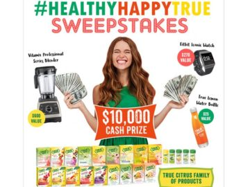 True Citrus Be Healthy. Be Happy. Be True Sweepstakes