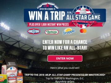 MLB All-Star Week Sweepstakes and Instant Win Game