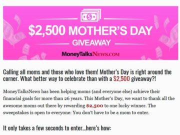 Win $2,500 Cash
