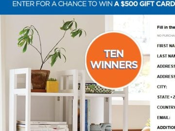 Win a $500 The Container Store Gift Card